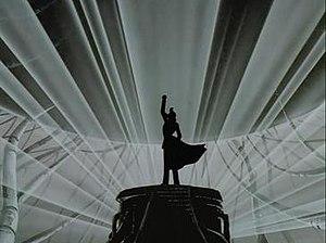 Donizetti's aria serves as theme to the events...