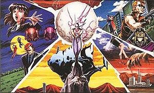 An illustration depicting Ryu Hayabusa at the ...