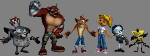 The returning characters of Crash Tag Team Rac...