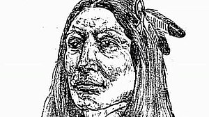 A sketch of Crazy Horse by a Mormon missionary...