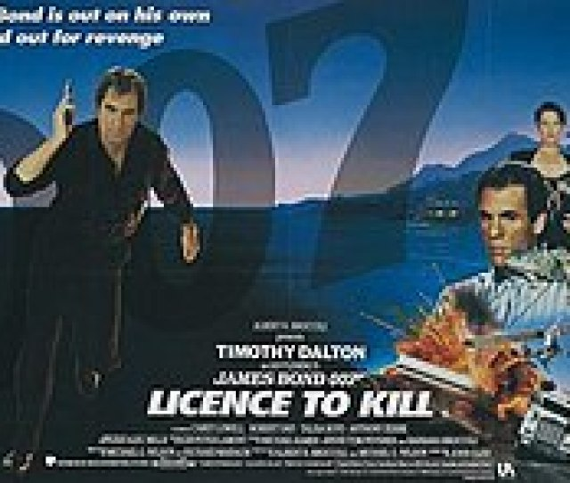 Licence To Kill In The Left Of The Picture Stands A Man Dressed In Black Pointing A Pistol Towards