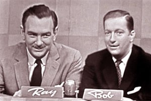 Ray Goulding and Bob Elliott hosting The Name'...