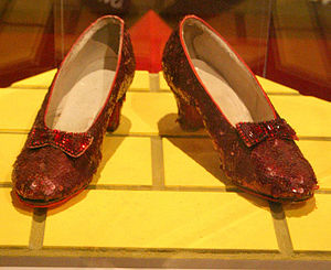 Cropped version of File:Ruby slippers.JPG