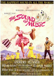 The Sound of Music movie poster - image via Wikipedia