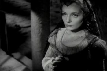 Suzanne Cloutier as Desdemona in Orson Welles'...