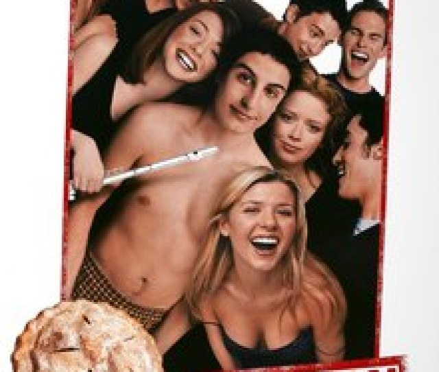 American Pie Group Picture Of The Cast Alyson Hannigan Has A Flute In Hand