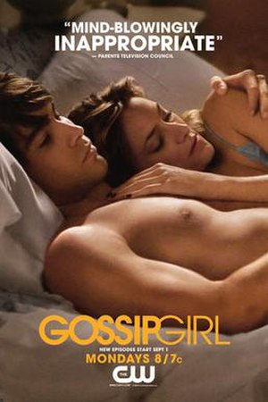 Gossip Girl poster featuring critical review