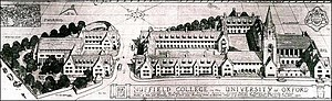 Nuffield College, Oxford – the first plans dra...