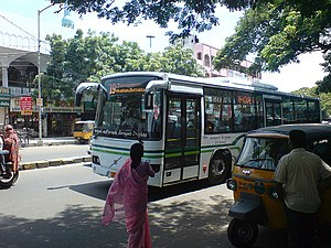 English: Chennai's new Volvo buses