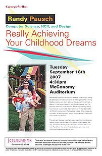 Pausch's last lecture poster