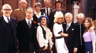 The cast of Are You Being Served? in late 1981.
