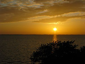 Sunset over the Currituck Sound in Duck (2009)