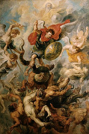 St. Michael and fallen angels Rubens, 17th century