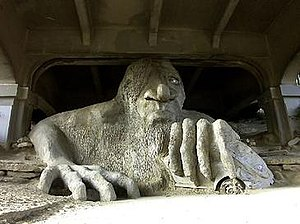 """The Troll"". A sculpture under the n..."
