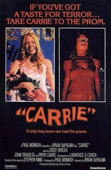 carrie, original movie poster