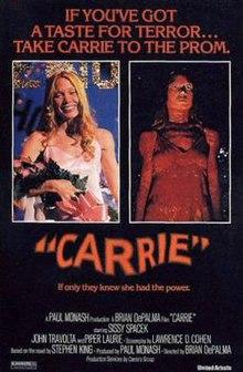 carrie, original movie poster