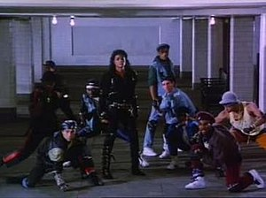 Jackson and background dancers in
