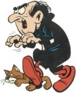 Gargamel and his cat Azrael.