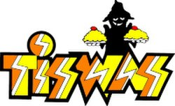 The 'classic' version of the Tiswas logo as designed by Stuart Kettle, revised by Chris Wroe (Wikipedia)