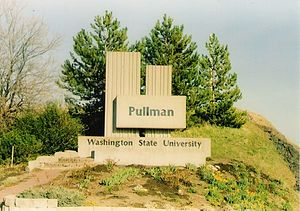 Entrance sign to Pullman, Washington