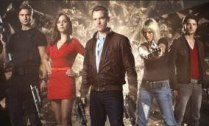 Primeval characters:(left to right:) Hannah Sp...