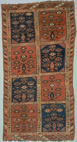 A Central Asian rug, 19th century. The symmetr...