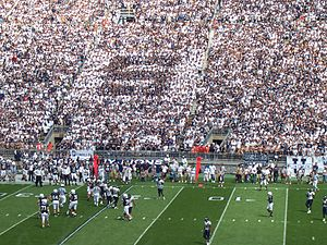 "PSU Senior Section dressed to spell ""S"""