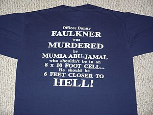 Anti-Abu-Jamal T-shirt sold in the Philadelphi...