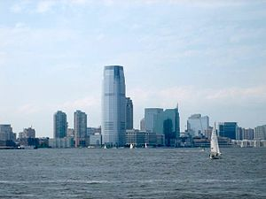View of Downtown focused around the Goldman Sa...