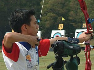 Archer Mark Javier at the Meteksan Archery Wor...
