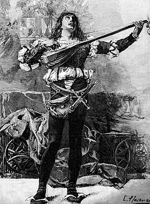 Minstrel with purse