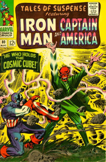 The Red Skull wielding the Cosmic Cube: Tales ...
