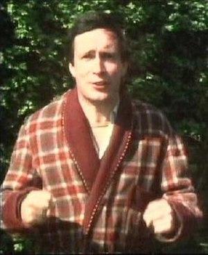 Simon Jones as Arthur Dent, watching his home ...