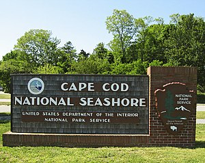 An entrance to the Cape Cod National Seashore ...