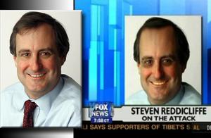 Left: Original photo of Steven Reddicliffe. Ri...