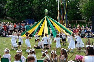 Example of a Ribbon Dance. The larger Maypole ...