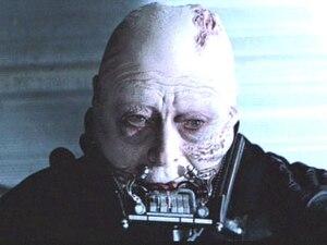 Sebastian Shaw as Anakin Skywalker, unmasked i...