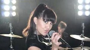 Lead singer Mindi Jackson in the music video.