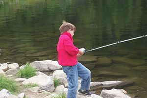 Andrew going fishing