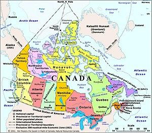 Map Kanada.