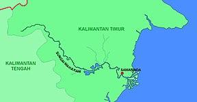 Peta DAS Mahakam