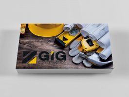 construction business card mockup front only