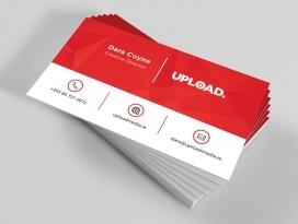 upload media business card front