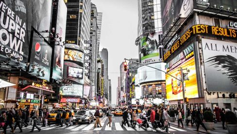 new york city times square billboard advertisements