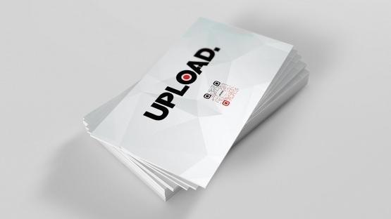 Upload Media business card mockup back only