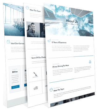 corporate website webpage layout examples