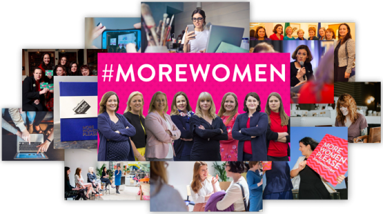 women for election photo collage