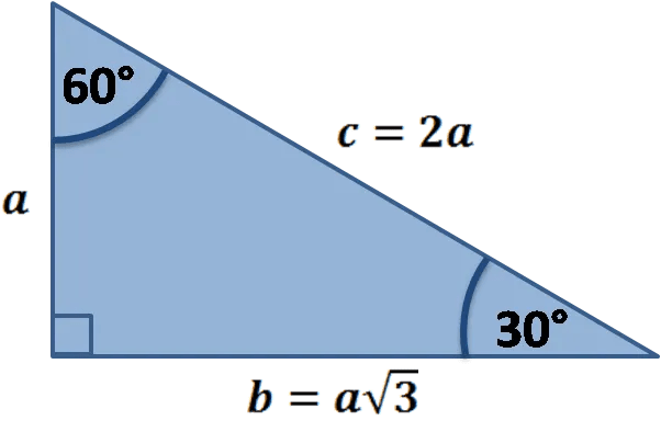 30 60 90 Triangle Calculator Formula Rules