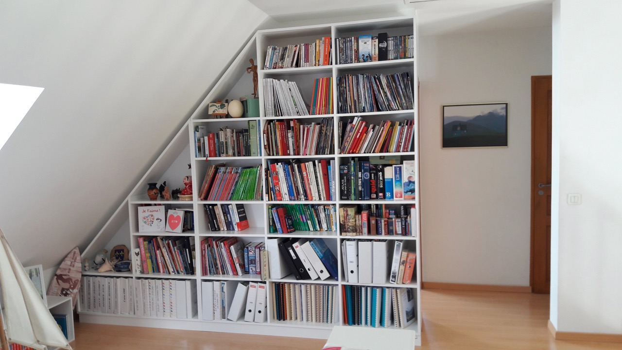 prix d une bibliotheque sous combles