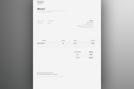 Web Design Invoice Template  Excel    Bonsai Excel invoices are highly customizable